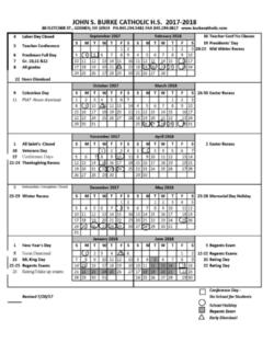 2017 2018 calendar at a glance news and announcements john s burke catholic high school